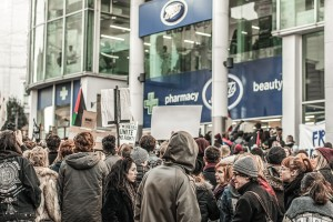 Boots tax protest